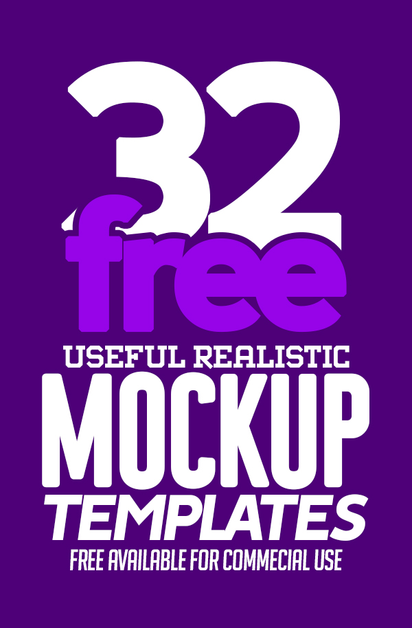 Free Mockups: 32 Useful Realistic Photoshop Mockup Templates