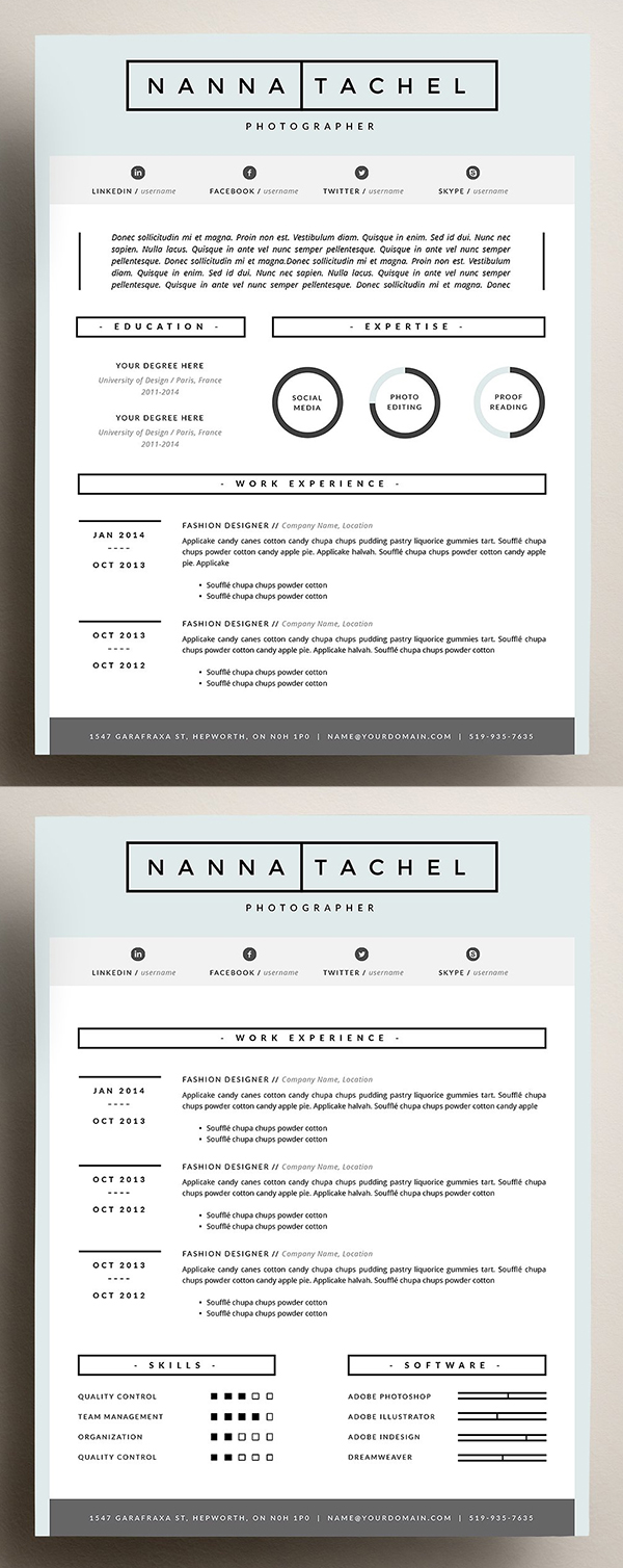 4 page CV Template | Resume Design