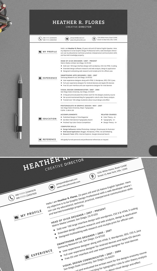 professional resume that will transform your job
