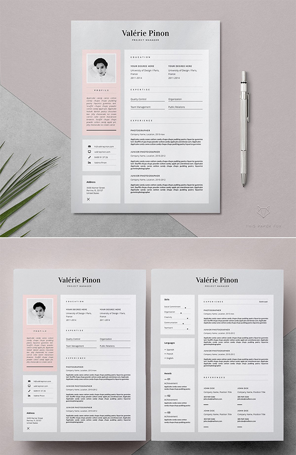 Resume Template 3 page