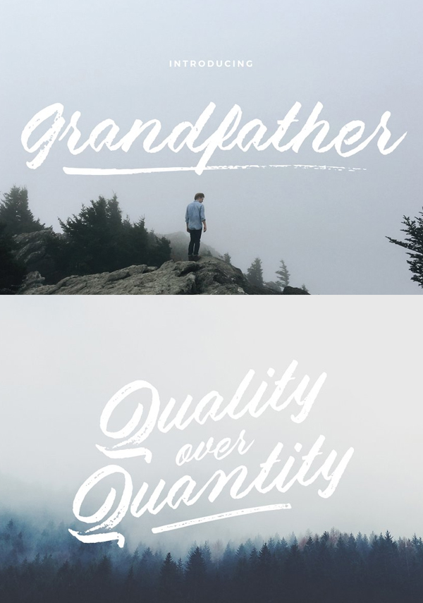 Grandfather – Brush Script Free Font Design