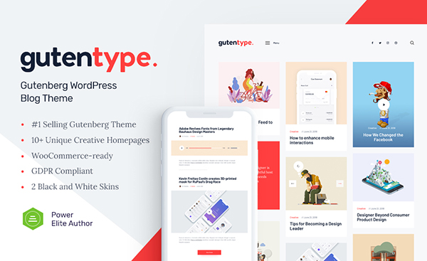Gutentype – A Trendy Gutenberg WordPress Theme