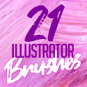 Post Thumbnail of 21 High Quality Illustrator Brushes