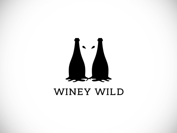 Winey Wild Negative Space Logo by Mursalin Hossain