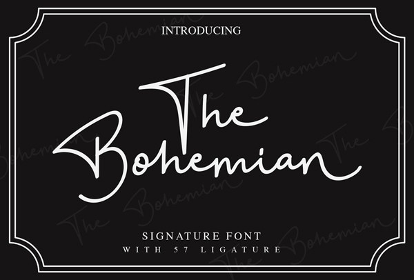 The Bohemian Signature Free Fuente