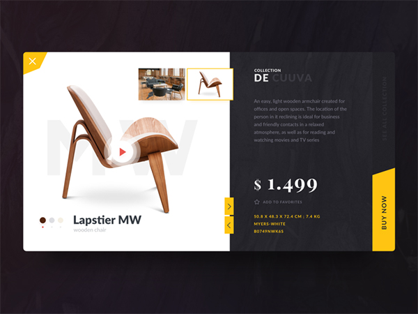 50 Modern Web UI Design Concepts with Amazing UX - 13