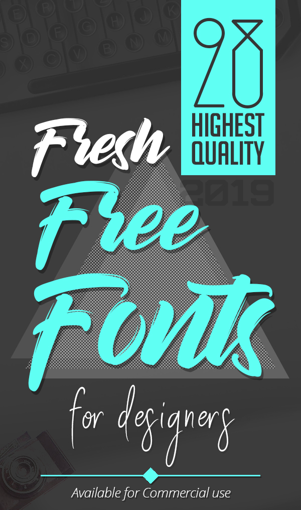 28 Fresh Free Fonts for Graphic Designers