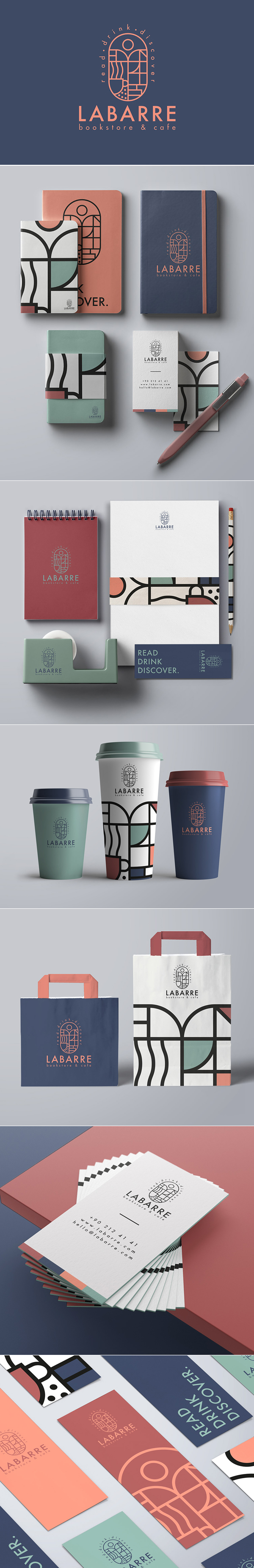 Branding: Labarre Bookstore & Cafe Branding Design by ONTO Design Studio