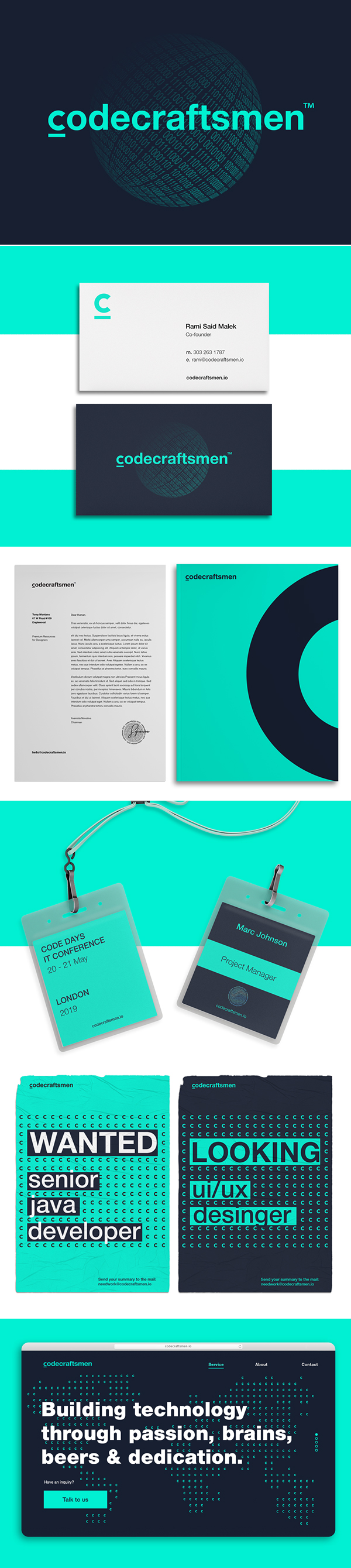 Branding: CodeCraftsmen Branding and Website by Kir.Ko Team