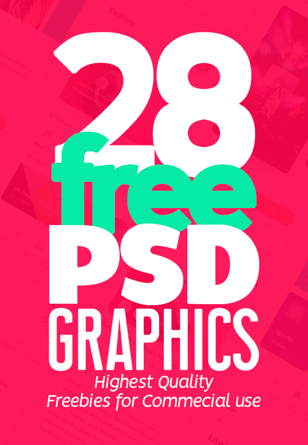 Free PSD Files: Download 28 Useful Free PSD Graphics for Modern UI/UX