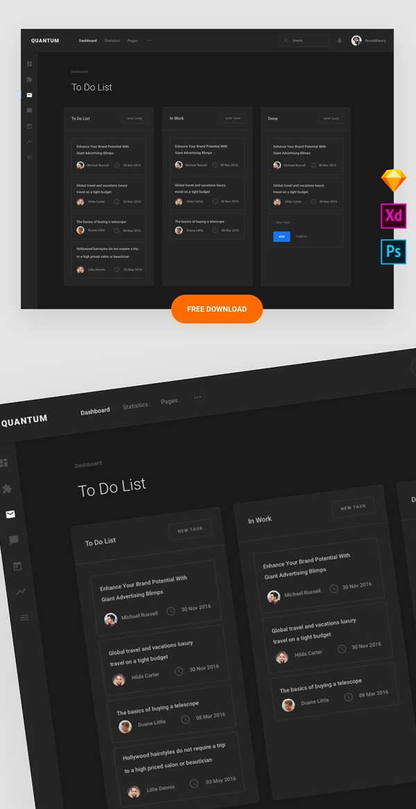 Free To-Do List Sketch and PSD Template