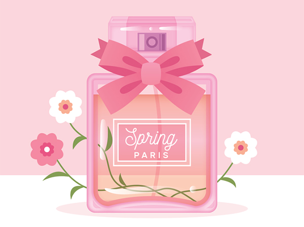 How to Draw a Spring-Time Perfume Bottle in Adobe Illustrator Tutorial