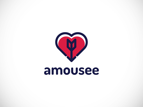 Amousee Dating App Logo by Tomasz Koz?owski