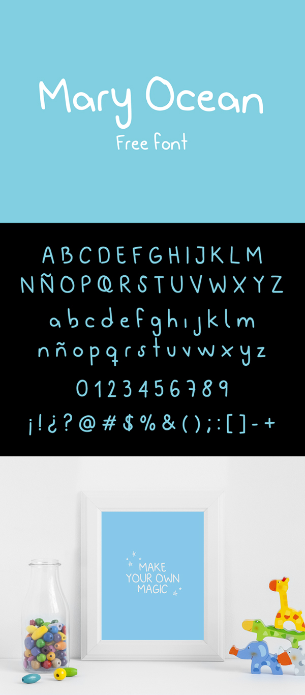 Mary Ocean Free Font