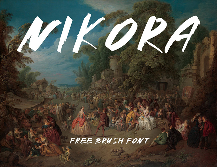Nikora Brush Free Font - 50 Best Free Brush Fonts