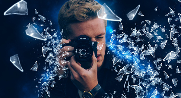 How to Create Glass Shatter Effect using Photoshop Tutorial