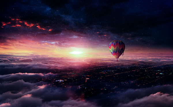 How to Create Hot Air Balloon Adventure Photo Manipulation in Photoshop Tutorial