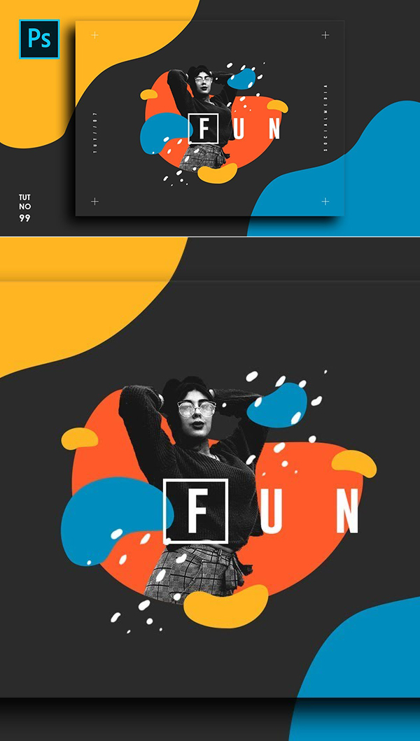 How to Create Flat Abstract Portrait Effect – Photoshop Tutorials