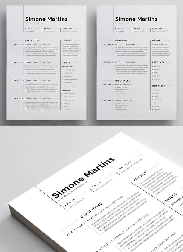 Perfect Resume / CV Template