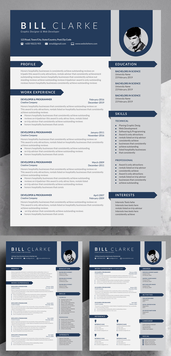 Word Resume Template | Cover Letter