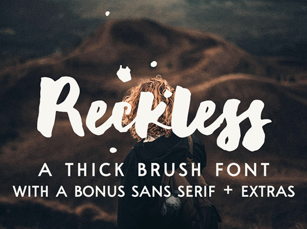 Reckless Brush Font Free Font - 50 Best Free Brush Fonts