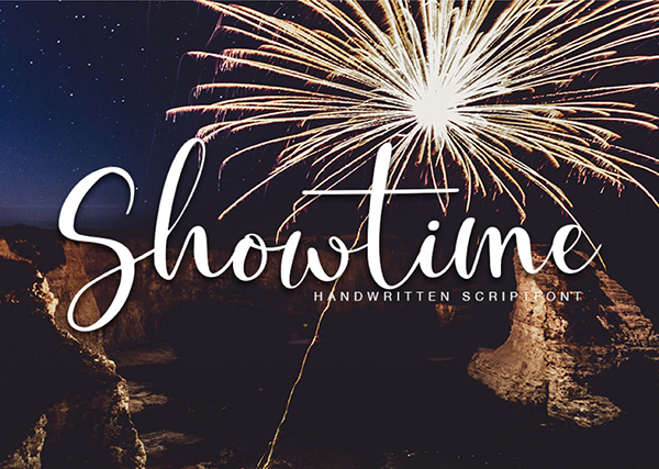 Showtime Handmade Calligraphy Free Font