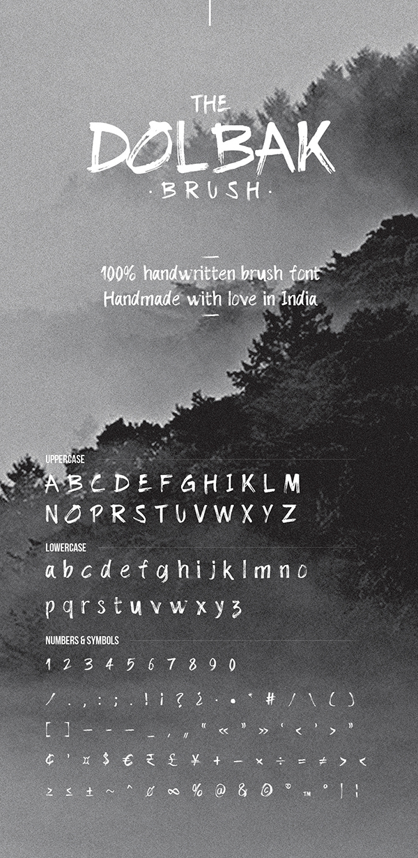 The Dolbak Handwritten Brush Free Font - 50 Best Free Brush Fonts