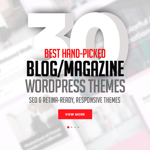 30 Best Handpicked Blog Magazine WordPress Themes