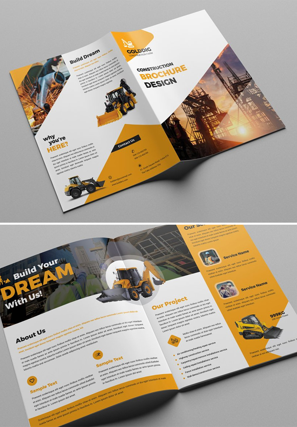 Construction Bifold Brochure