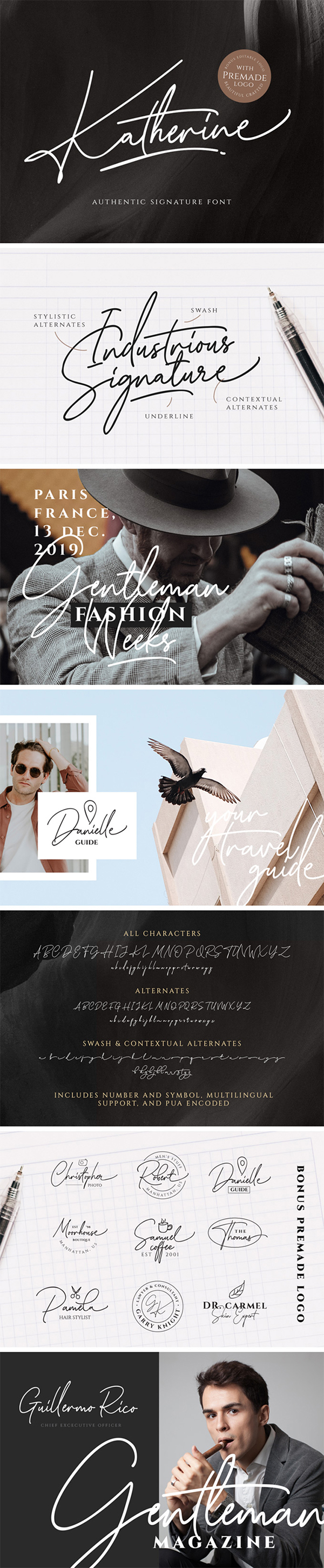 Katherine Authentic Signature Free Font