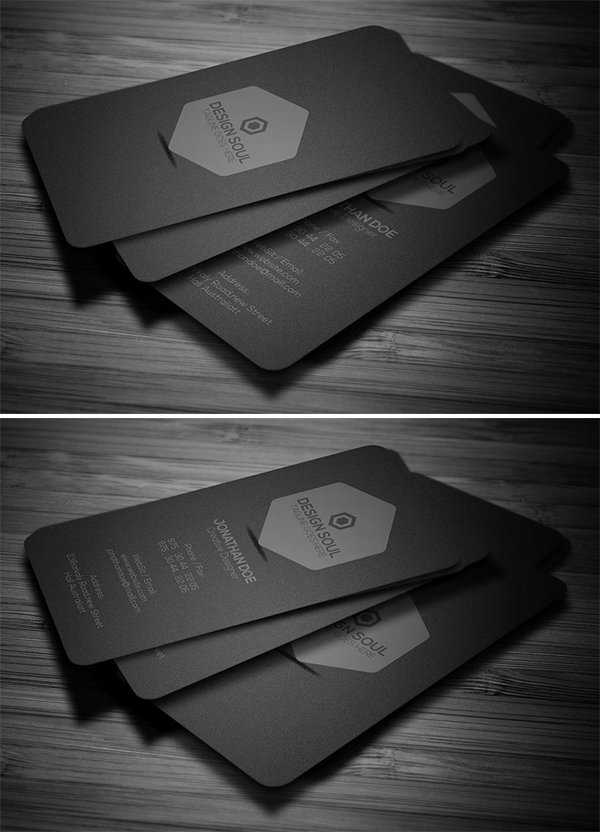 Minimal Dark Business Card