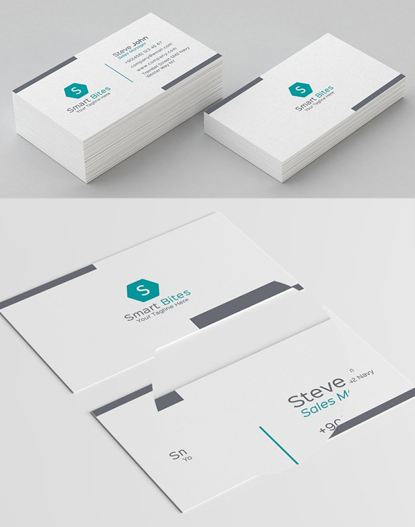 Minimal Pattern Business Card