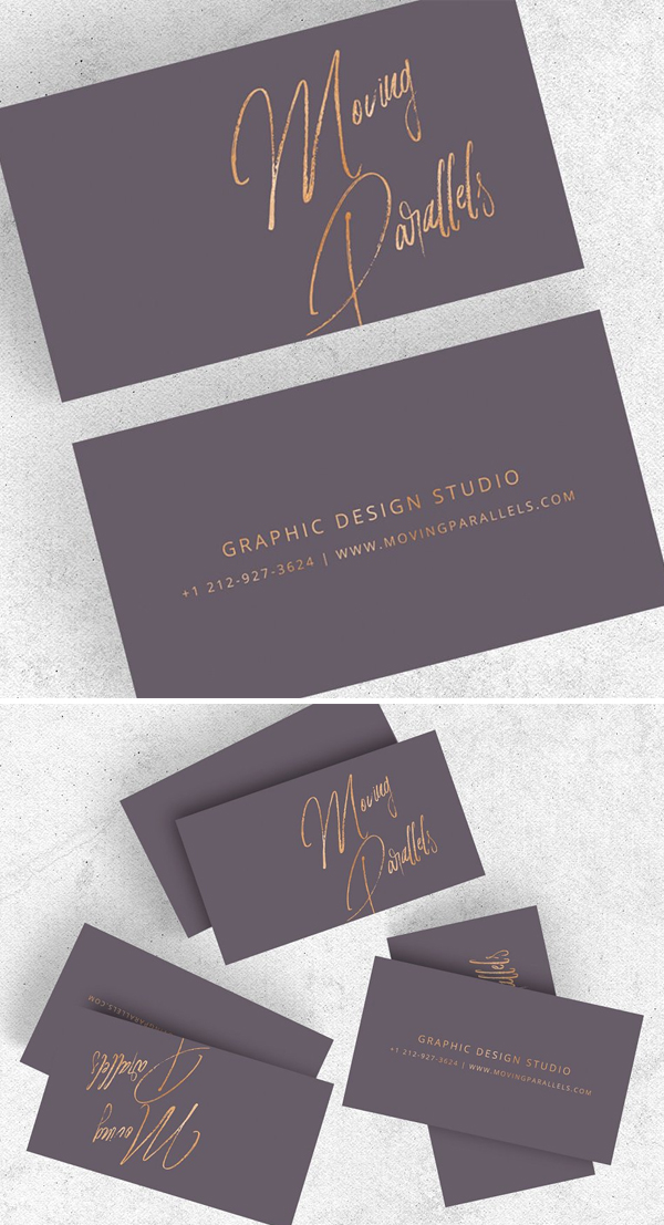 Elegant Gold Minimal Business Card