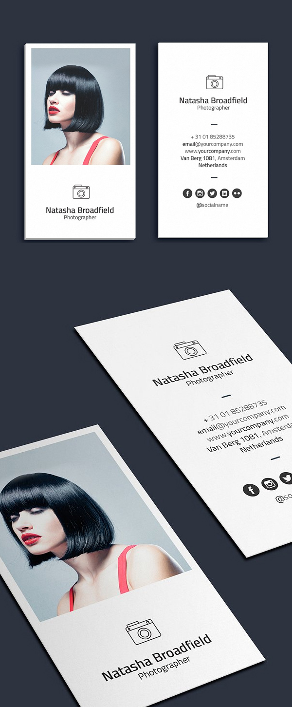 Minimal Photographer Business Card