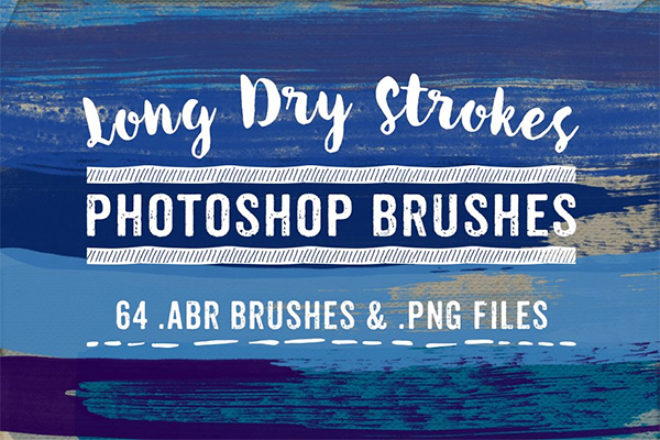 Long Dry Watercolor Brushes Bundle