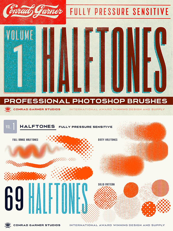 Halftone Brushes - Photoshop