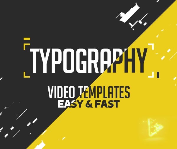 6 Amazing Typography Video Templates: Easy & Fast