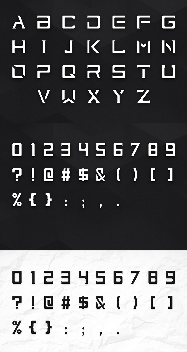 ImPerfect23 Free Font Letters