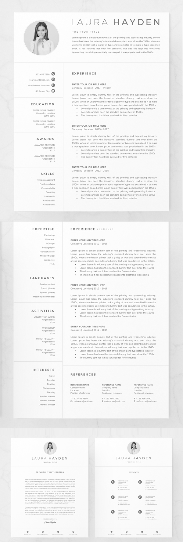 Clean Resume Template / CV Design