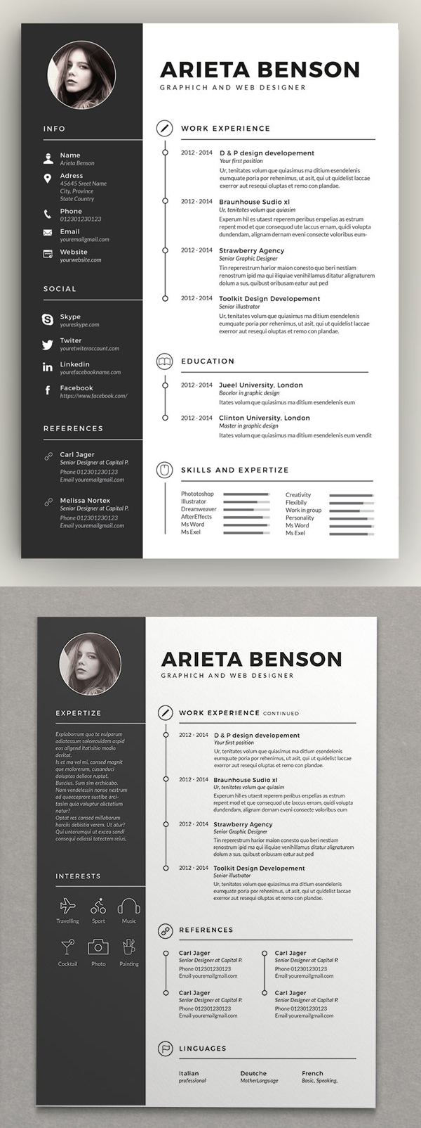 Clean Cv-Resume Design Template