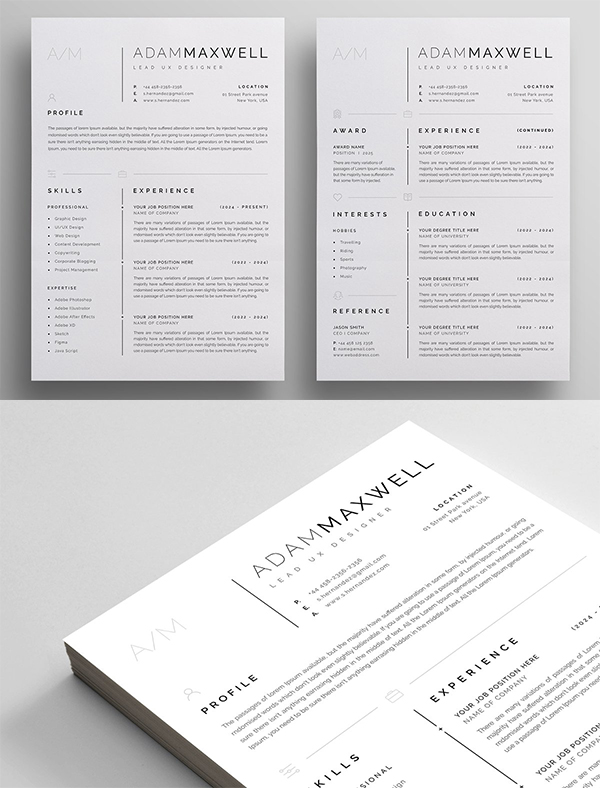Simple Resume / CV Template