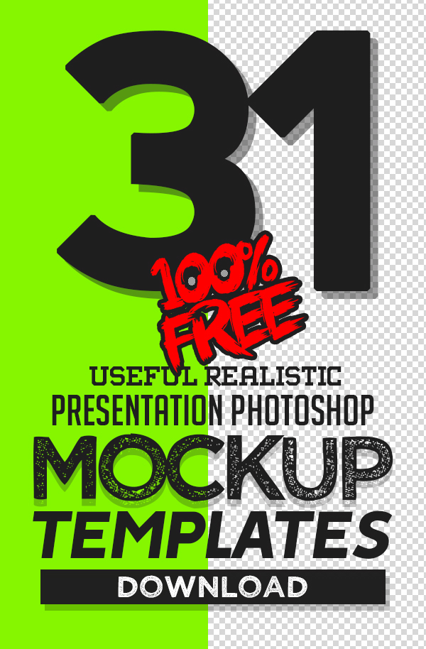 Free Mockups: 31 Useful Realistic Photoshop Mockup Templates