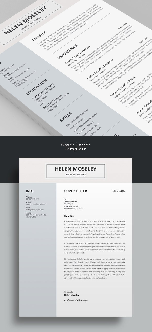 Elegant Resume/CV Word Template #resumedesign