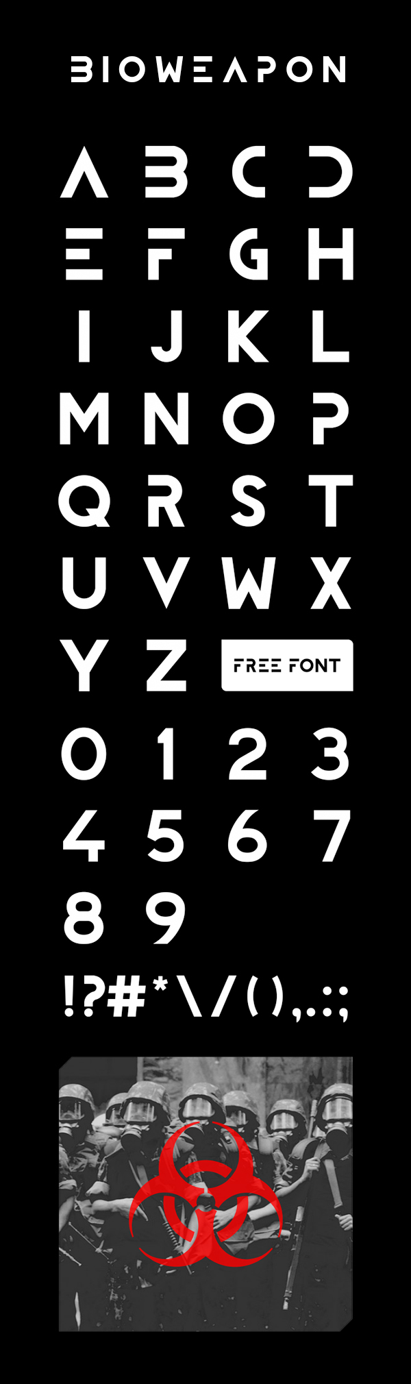 Bioweapon Free Font Letters