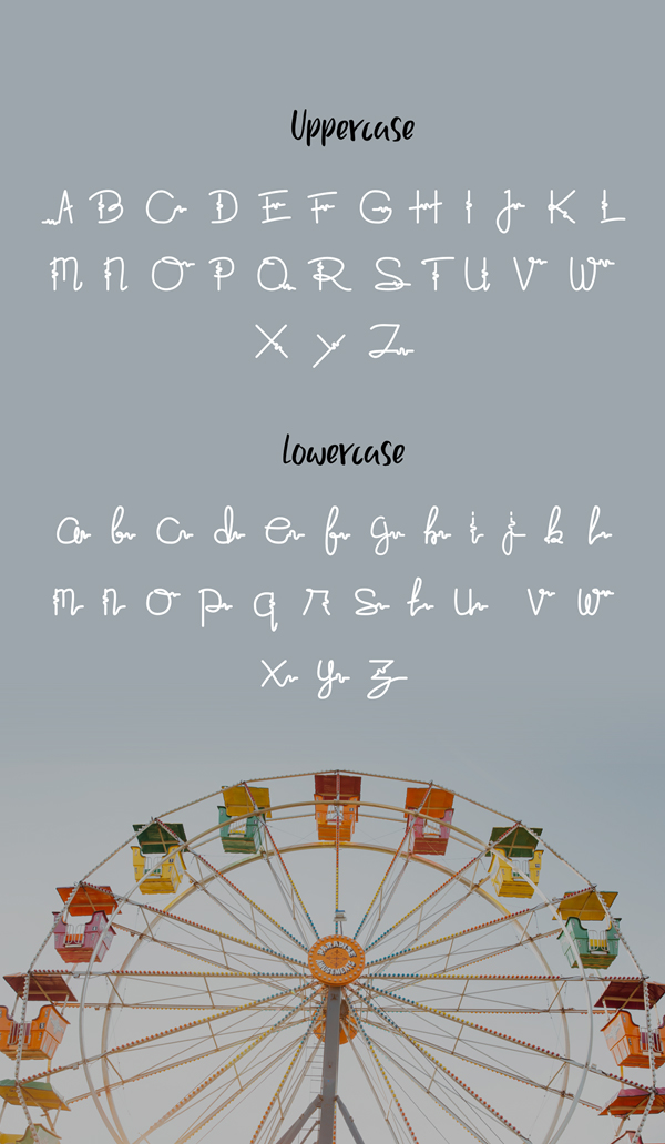 Fawa Free Font Letters
