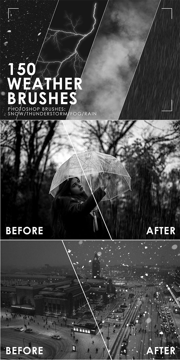Weather Photoshop Brushes