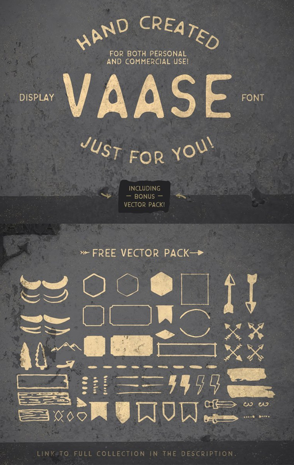 Vaase Handcrafted Free Font