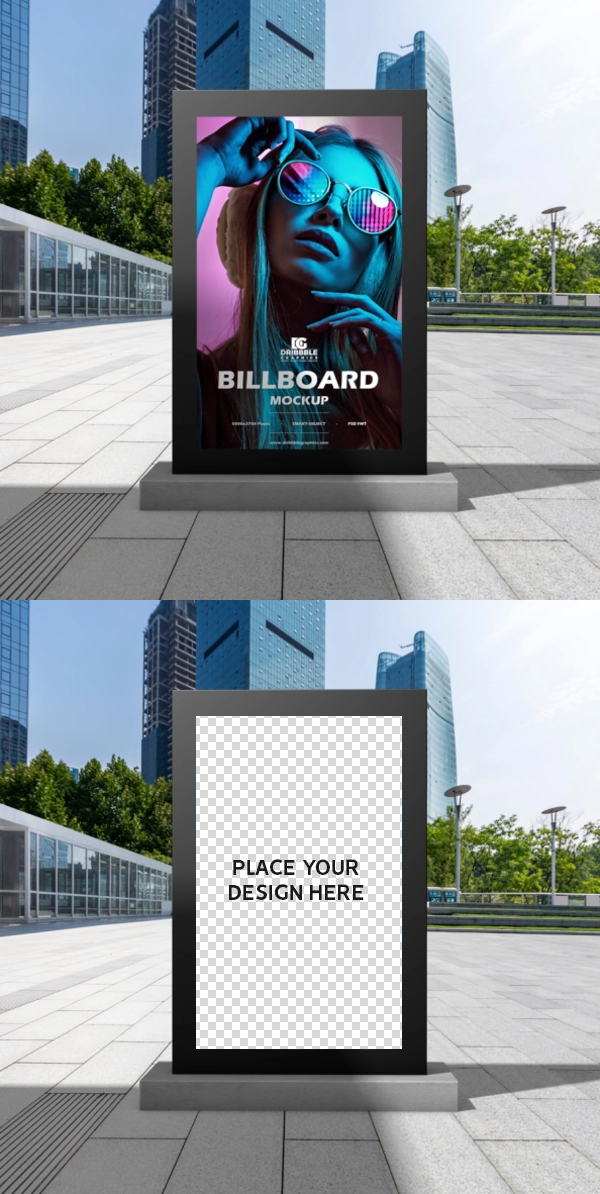 Free Outdoor Billboard Mockup PSD