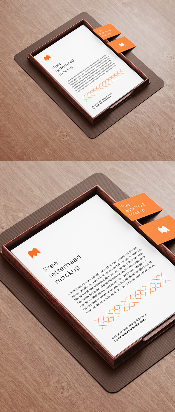 Free letterhead Mockup and Template