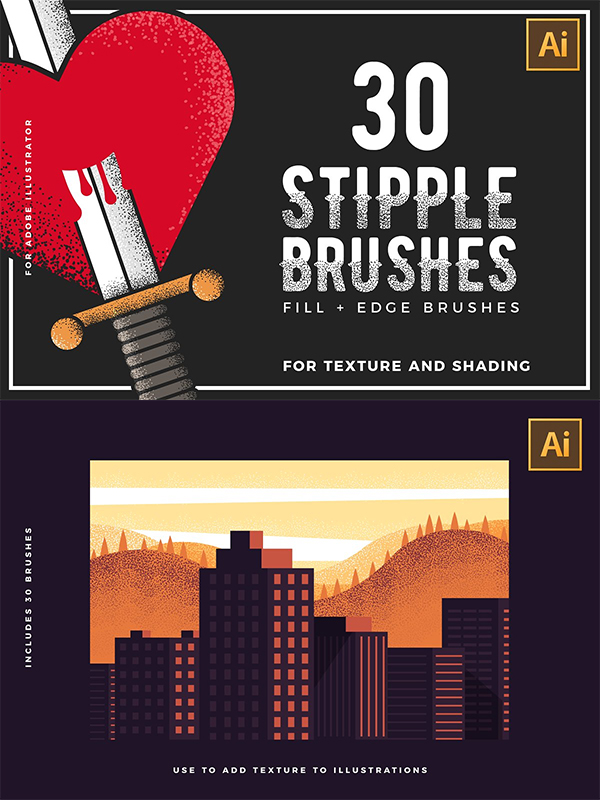 Stipple Brushes for Illustrator